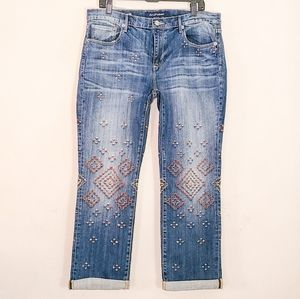 Driftwood Taylor Embroidered Boyfriend Jeans